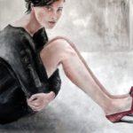 Junge Frau   120 x 100 cm   Acryl auf Leinwand verkauft