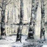 Wald, 2014, Öl auf Leinwand, 80 x 100 cm