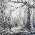 Wald I, 100 x 120 cm, Öl auf Leinwand