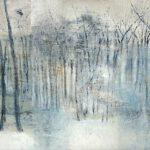 Wald Blau, 80 x 140 cm, Öl auf Leinwand