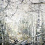 Wald II, 100 x 120 cm, Öl auf Leinwand