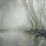 Bäume am Ufer, 90 x 130 cm Öl auf Leinwand