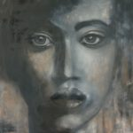 Augenblicke I, 2017, Öl auf Leinwand, 100 x 90 cm