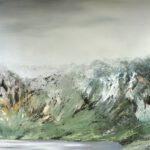 Bergpanorama, 140 x 290 cm, Öl auf Leinwand, 2017