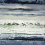 Mittelmeer am Nestos IV, 2018, Öl auf Leinwand, 80 x 70 cm