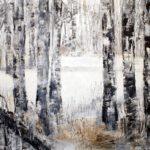 Birken, 2015, Acryl auf Leinwand, 130 x 150 cm