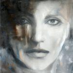 Augenblicke IV, 2017, Öl auf Leinwand, 100 x 90 cm, verkauft