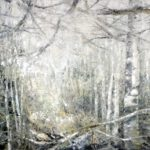 Wald II, 2016, Öl auf Leinwand, 100 x 120 cm