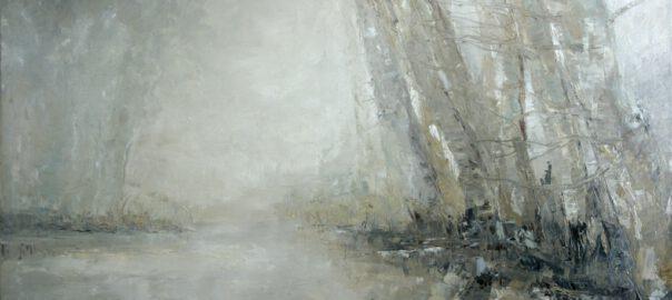 Bäume am Ufer, 2016, Öl auf Leinwand, 90 x 130 cm
