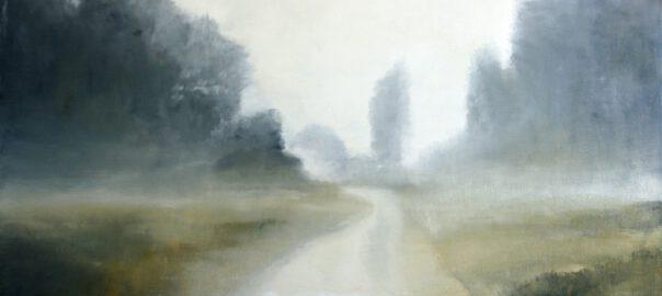 Riedlandschaft III, 2016, Öl auf Leinwand, 90 x 150 cm