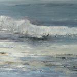 Welle, 2017, Öl auf Leinwand, 80 x 160 cm