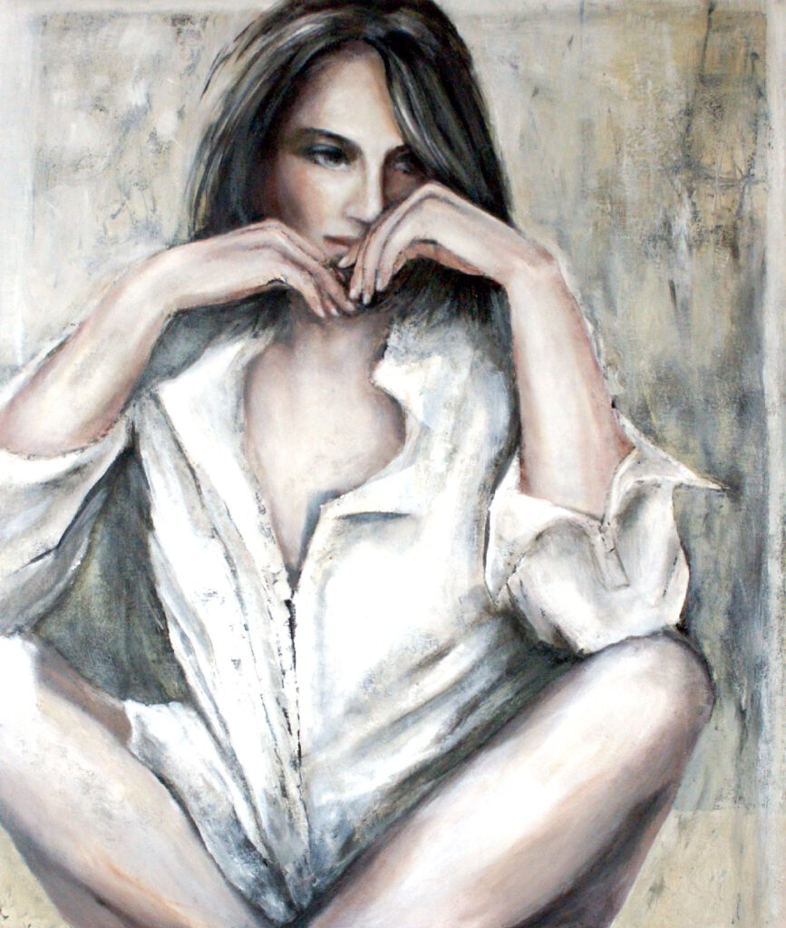 Iris - 2018 - Acryl/Öl auf Leinwand - 120 x 100 cm