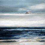 Mittelmeer am Nestos I, 2018, Öl auf Leinwand, 90 x 90 cm