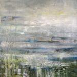 Lichtspiel IV, 2019, Öl auf Leinwand, 100 x 90 cm