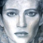 face IV, 2019, Öl auf Leinwand, 90 x 100 cm