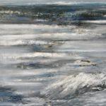 Welle II, 2019, Öl auf Leinwand, 100 x 90 cm