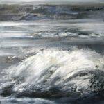 Welle I, 2019, Öl auf Leinwand, 100 x 90 cm