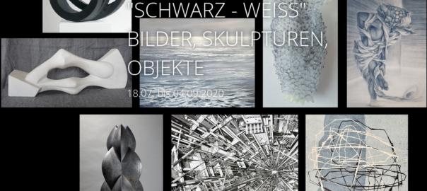"""""""SCHWARZ - WEISS"""" BILDER, SKULPTUREN, OBJEKTE"""
